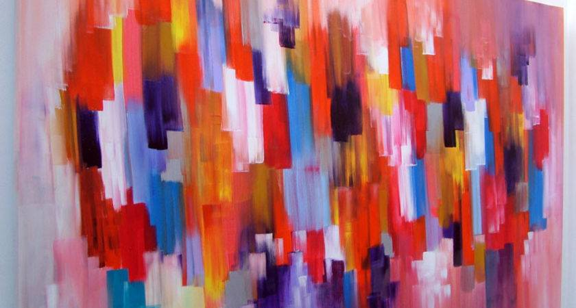 Abstract Canvas Acrylic Painting Seb Farrington