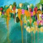 Abstract Drip Floral Beginner Acrylic Painting Tutorial