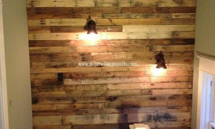 Accent Wall Made Out Pallets Pallet Wood Projects