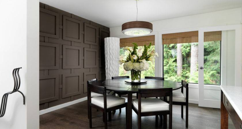 Accent Wall Panel Dining Room Contemporary Geometric