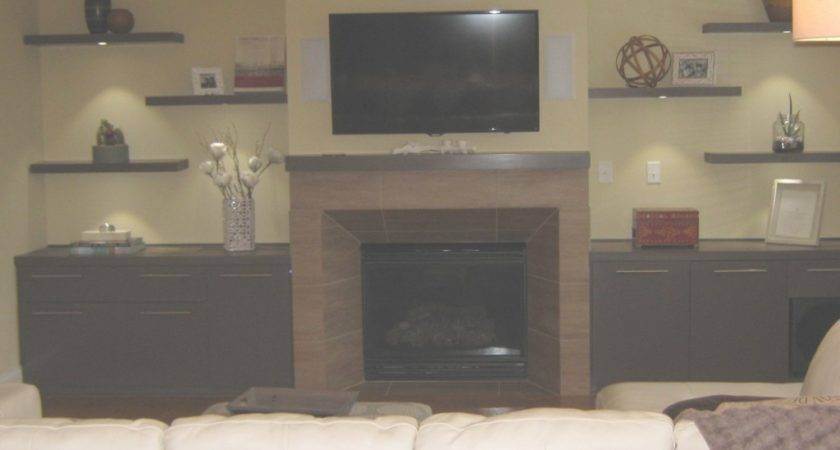 Acceptable Floating Shelves Next Fireplace Wild Wood