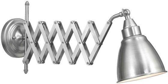 Accordion Cone Swing Arm Wall Lamp Look Less