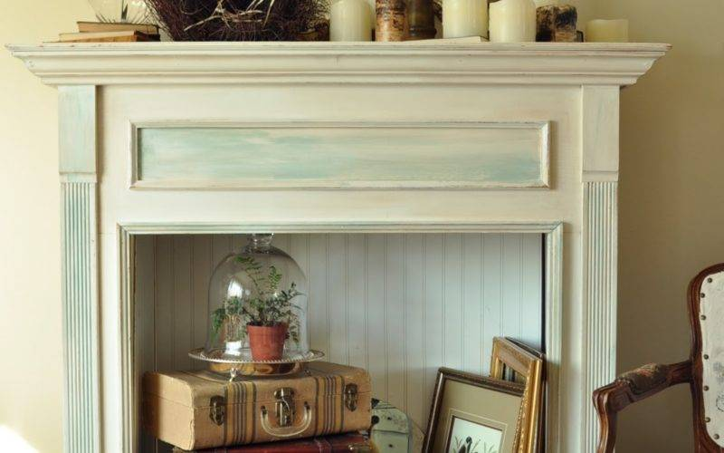 Adding Finishing Touch Faux Fireplace Mantel