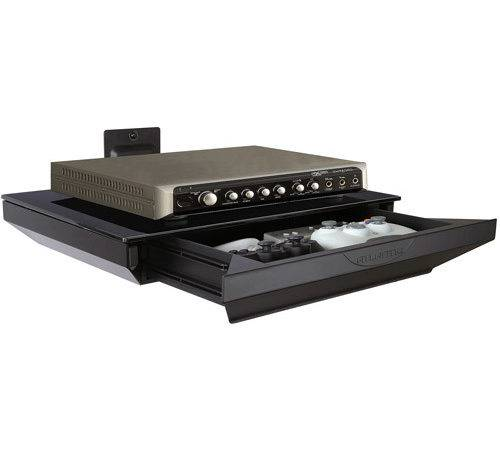 Adjustable Shelf Dvd Player Cable Box Receiver
