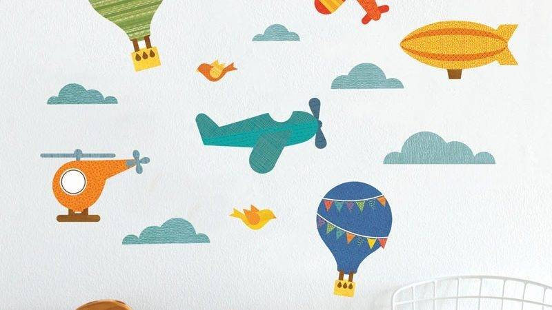 Air Fabric Wall Decal Petit Collage