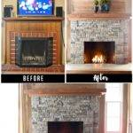 Airstone Fireplace Makeover Ugly Incredible