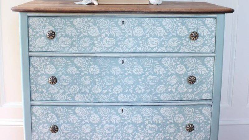 All Details Hand Painted Dresser