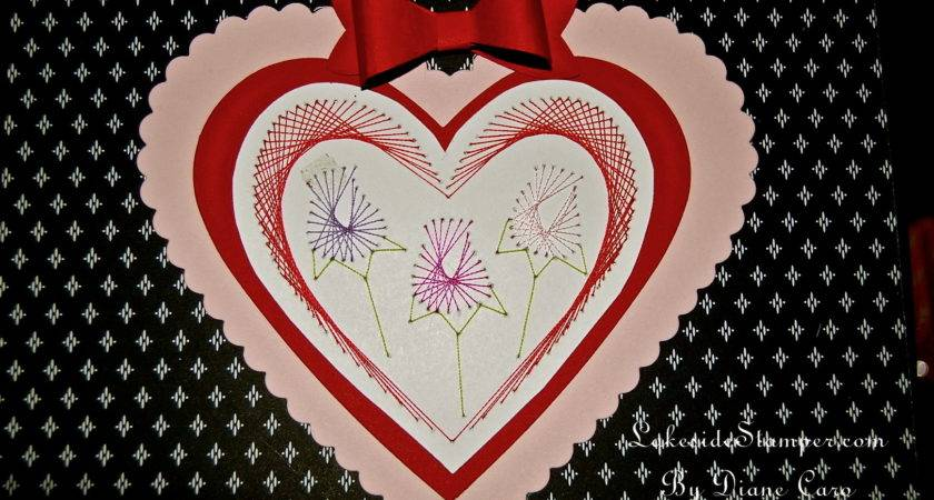 All Heart Week Paper Embroidered