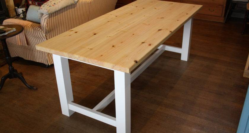 Amazing Farmhouse Dining Table Wooden Workshop Oak