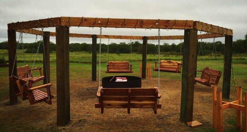 Amazing Porch Swing Fire Pit Designs Ideas