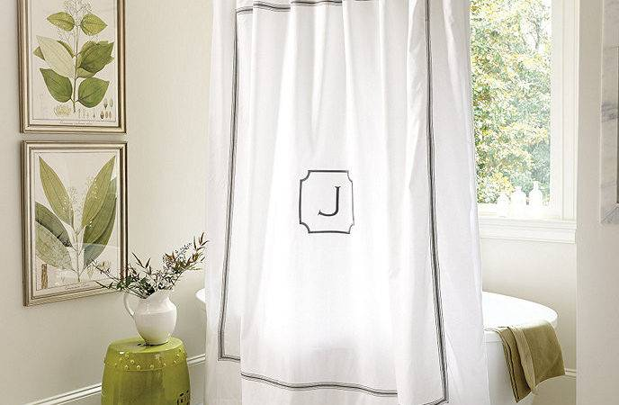 Amelie Embroidered Shower Curtain Gray Ballard Designs