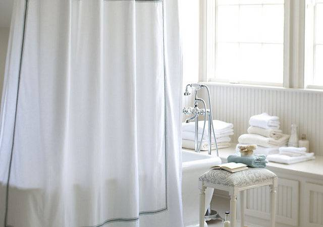 Amelie Embroidered Shower Curtain Spa Traditional