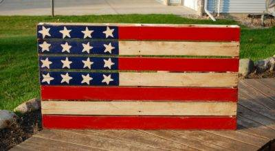 American Flag Pallet Art Occasionally Yours