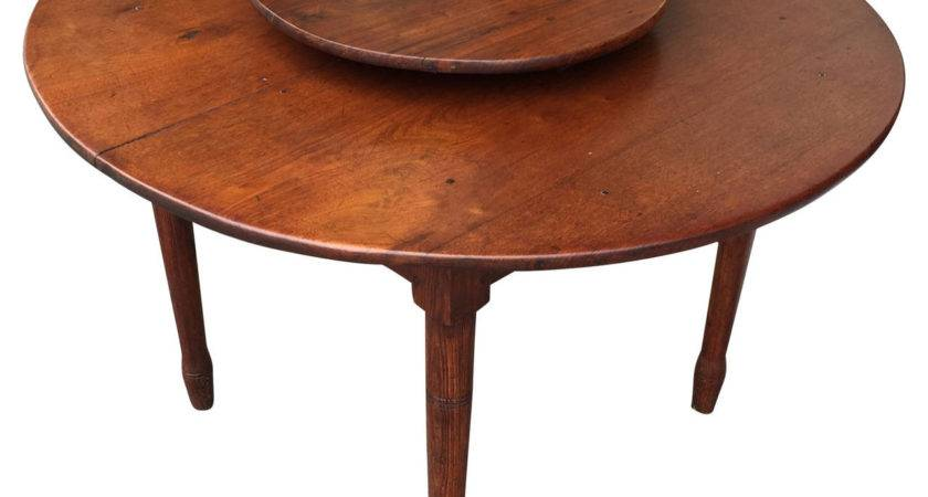American Southern Lazy Susan Dining Table Circa