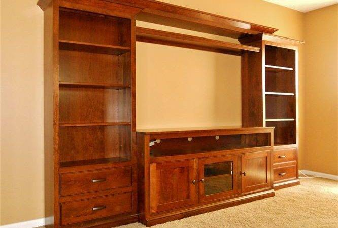 Amish Media Stands Wall Units