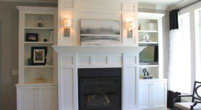 Amy Casablanca Fireplace Book Shelves