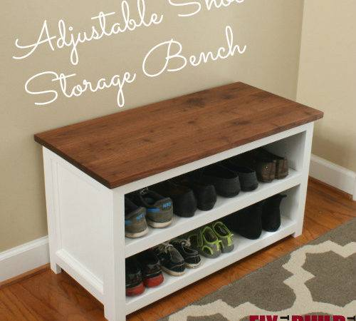 Ana White Adjustable Shoe Storage Bench Diy Projects