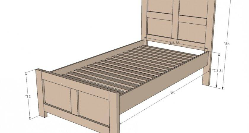Ana White Build Emme Twin Bed Easy Diy Project