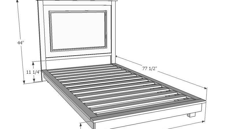 Ana White Build Fillman Platform Twin Bed