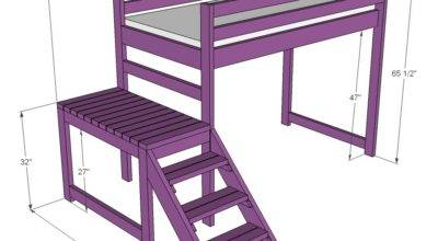 Ana White Camp Loft Bed Stair Junior Height Diy