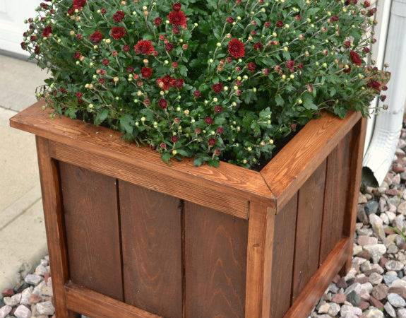 Ana White Cedar Planter Mitered Top Diy Projects