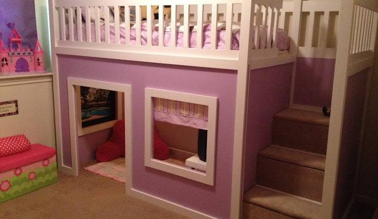 Ana White Chloe Purple Playhouse Bed Diy Projects