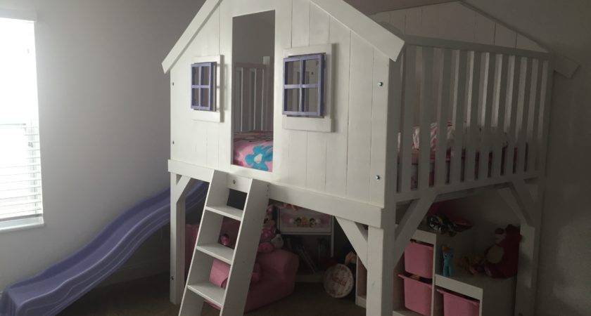 Ana White Clubhouse Bed Slide Diy Projects