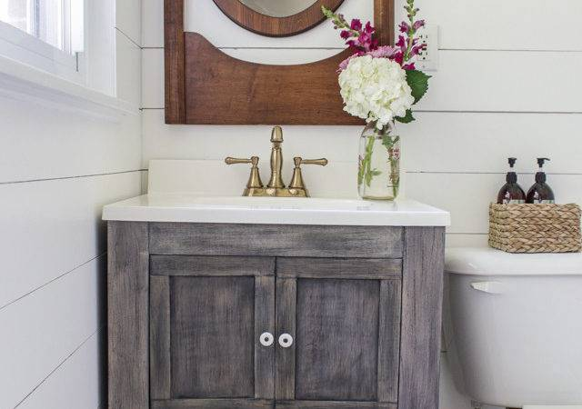Ana White Diy Bathroom Vanity Featuring Shades Blue