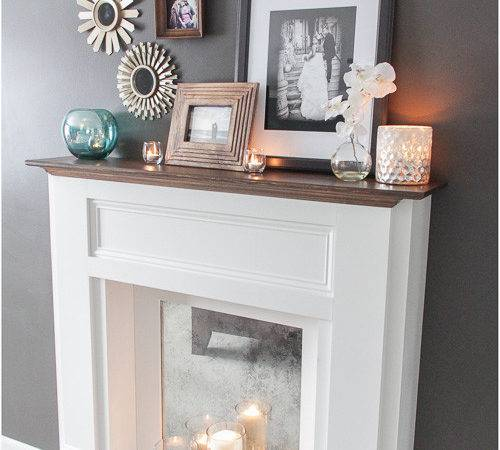 Ana White Diy Faux Mantle Fireplace Projects