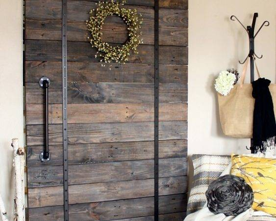 Ana White Diy Pallet Sliding Barn Door Track