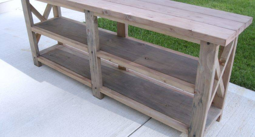 Ana White Diy Rustic Console Table Projects