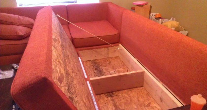 Ana White Diy Sofa Storage Sectional Projects