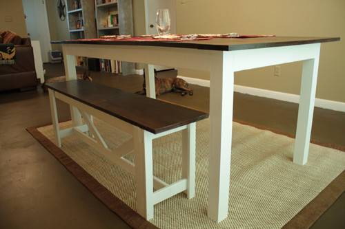 Ana White Farmhouse Dining Table Rustic Bench Diy