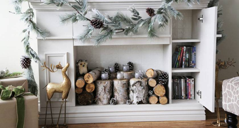 Ana White Faux Fireplace Mantle Hidden Storage