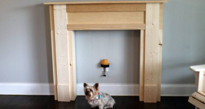 Ana White Faux Mantel Fire Diy Projects