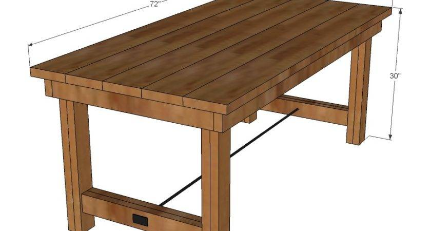 Simple Farmhouse Table Plans Placement Gabe Jenny Homes