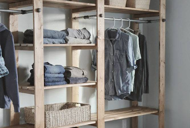 Ana White Industrial Style Wood Slat Closet System