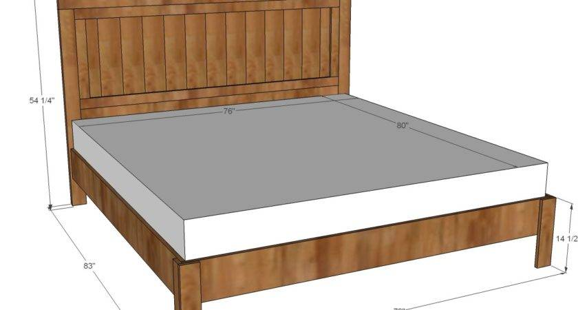 Ana White King Fancy Farmhouse Bed Diy Projects