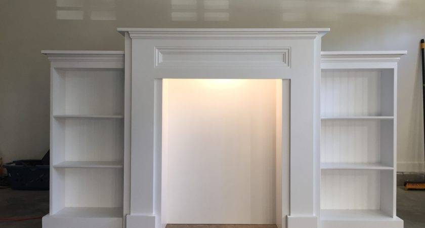 Ana White Mimi Faux Mantle Bookshelves Diy Projects