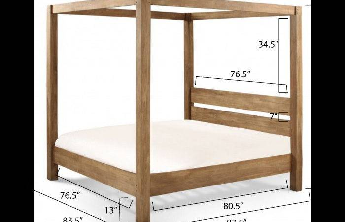 Ana White Minimalist Rustic King Canopy Bed Diy Projects