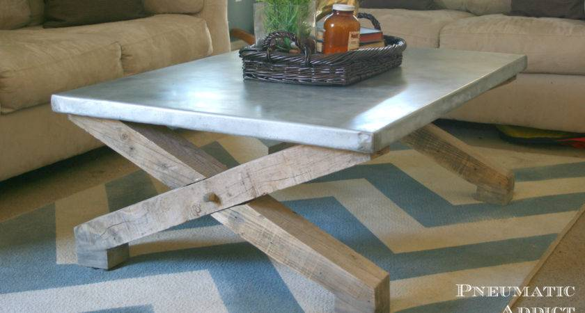 Ana White Pottery Barn Knock Off Zinc Coffee Table Diy