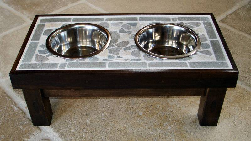 Ana White Raised Tile Topped Pet Feeder Diy Projects