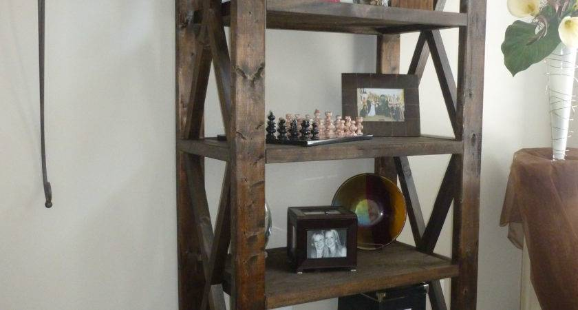 Ana White Rustic Bookcase Diy Projects