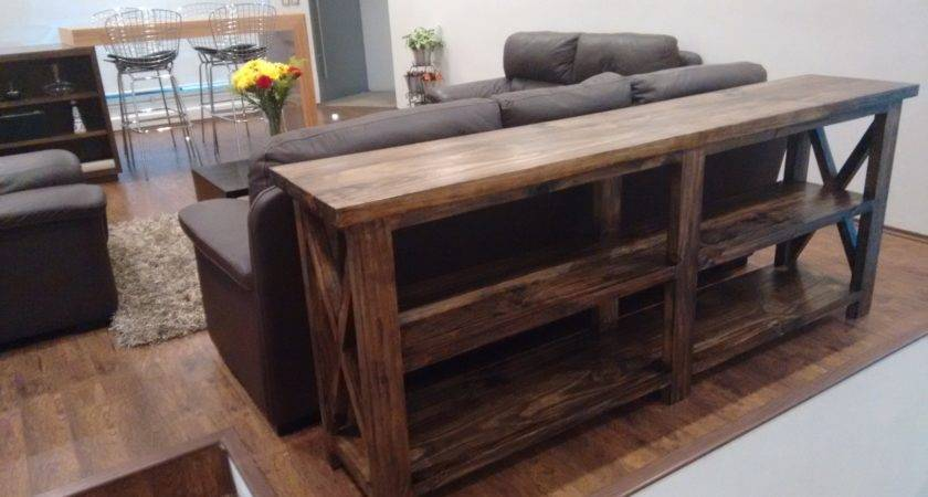 Ana White Rustic Console Anawhite Diy Projects