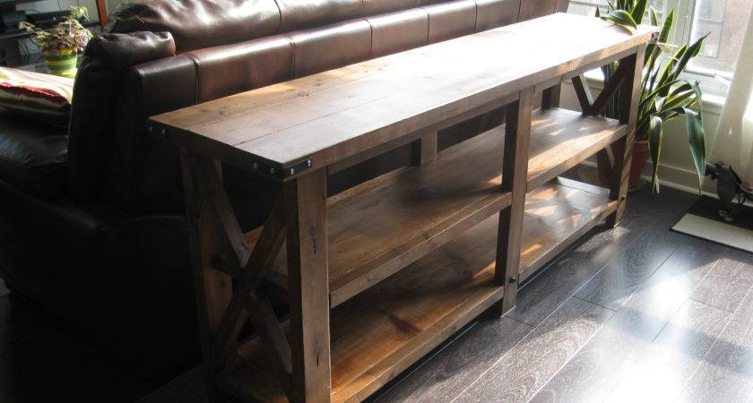 Ana White Rustic Console Diy Projects
