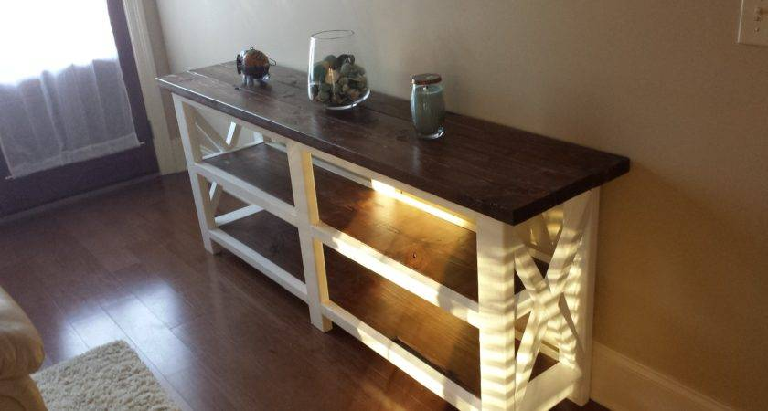 Ana White Rustic Console Table Beginning Diy
