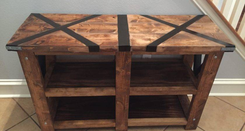 Ana White Rustic Console Table Top Diy Projects