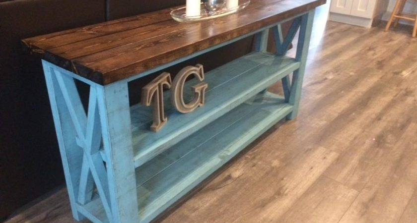 Ana White Rustic Sofa Table Diy Projects