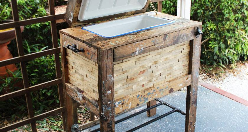 Ana White Rustic Wood Cooler Box Made Pallets