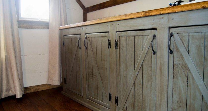 Ana White Scrapped Sliding Barn Doors Rustic